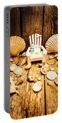 Deckchairs And Seashells Portable Battery Charger