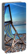 Deckchairs On The Shingle Portable Battery Charger