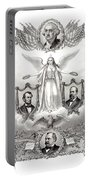 Declaration Of Independence 1884 Poster Restored Portable Battery Charger