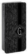 Deco Jazz Swing Monogram ...letter G Portable Battery Charger