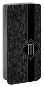 Deco Jazz Swing Monogram ...letter M Portable Battery Charger