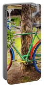 Decorated Bicycle In The Park Portable Battery Charger