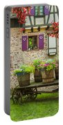 Half-timbered House, Riquewihr, Alsace,france  Portable Battery Charger