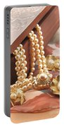 Decorated Carved Box In Aluminum And Pearl Necklace Portable Battery Charger