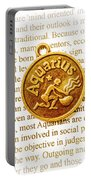 Decorative Aquarius Portable Battery Charger