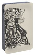 Decorative Design With Two Standing Deer, Carel Adolph Lion Cachet, 1874 - 1945 Portable Battery Charger