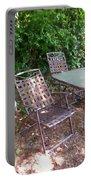 Decorative Furniture In A Garden 1 Portable Battery Charger