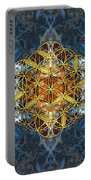 Decorative Gemstone Sacred Geometry Flower Of Life   Portable Battery Charger