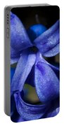 Deep Blue Flower Portable Battery Charger