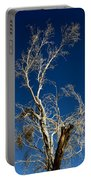 Deep Blue White Tree Portable Battery Charger