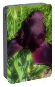 Deep Burgundy Iris Portable Battery Charger