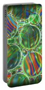 Deep Green Marbles Shower Curtain Portable Battery Charger