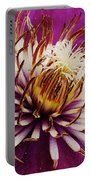 Deep Purple Clematis Portable Battery Charger