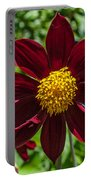 Deep Red And Yellow Flowers Portable Battery Charger
