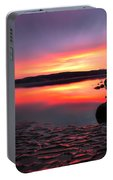 Deep Sunset At Morecambe Portable Battery Charger