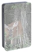 Deer By The Tree Line Portable Battery Charger