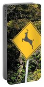 Deer Crossing Sign 2 Portable Battery Charger