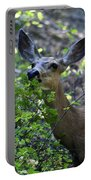 Deer Having Lunch Portable Battery Charger