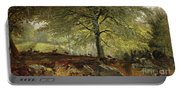 Deer In A Wood Portable Battery Charger