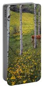 Deer In Spring Portable Battery Charger