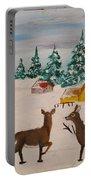 Deer Scene Portable Battery Charger