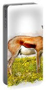 Deer Water Color Digital Art Portable Battery Charger