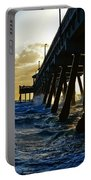 Deerfield Beach Pier At Sunrise Portable Battery Charger