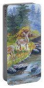 Deers At The Water Portable Battery Charger