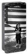 Defiant Girl Desert Storm Troops Welcome Home Celebration Ft. Lowell Tucson Arizona 1991 Portable Battery Charger