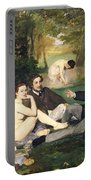 Dejeuner Sur L Herbe Portable Battery Charger by Edouard Manet