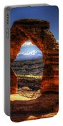 Delicate Arch Framing La Sal Mountains Portable Battery Charger