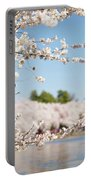 Delicate Blossoms Over The Tidal Basin Portable Battery Charger