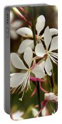 Delicate Gaura Flowers Portable Battery Charger