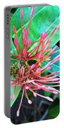 Delicate Pink Flower Portable Battery Charger