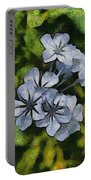Delicate Plumbago Painted In Van Goch Style Portable Battery Charger