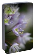 Delicate Purple Flowers Portable Battery Charger