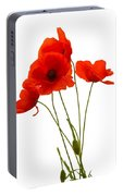 Delicate Red Poppies Vector Portable Battery Charger