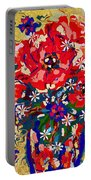 Delightful Flowers Portable Battery Charger