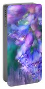 Delphinium Abstract Portable Battery Charger