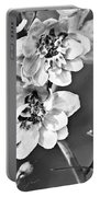 Delphinium Black And White Portable Battery Charger