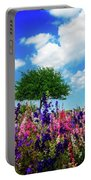 Delphinium Daydreams Portable Battery Charger