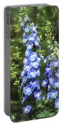 Delphinium Painterly Portable Battery Charger