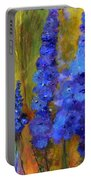 Delphiniums Portable Battery Charger