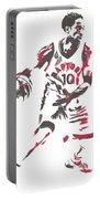 Demar Derozan Toronto Raptors Pixel Art 7 Portable Battery Charger