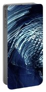 Denim And Light  Abstract 1 Portable Battery Charger