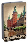 Denmark, Castle, Romance Of The Middle Ages Poster Portable Battery Charger
