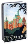 Denmark, Rosenborg Castle, Vintage Travel Poster Portable Battery Charger
