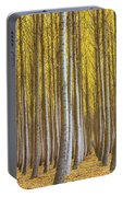 Dense Forest Of Poplar Trees In Boardman Oregon During Fall Portable Battery Charger