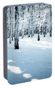Dense Spruce Snowy Forest Portable Battery Charger