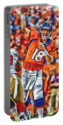 Denver Broncos Peyton Manning Oil Art Portable Battery Charger